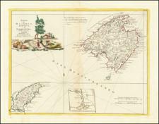 Isole di Majorca, D'Ivica e di Formentera Di Nuova Projezione . . . 1778 By Antonio Zatta