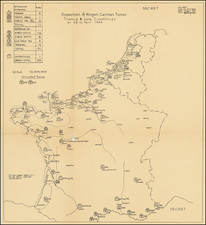 Netherlands, Belgium, France and World War II Map By Commander Task Force 122