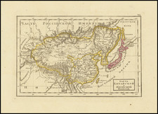 China, Japan and Korea Map By Fyodor Poznyakov  &  Konstantin Arsenyev  &  S.K. Frolov