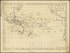Pacific Ocean, Pacific, Australia and New Zealand Map By Fyodor Poznyakov  &  Konstantin Arsenyev  &  S.K. Frolov