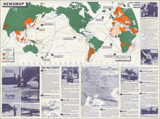 [WWII Propaganda Map]  Newsmap -- Monday, September 14, 1942 By United States GPO