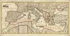 Mediterranean Map By Pieter Mortier