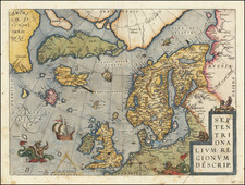 Septentrionalium Regionum Descrip.   By Abraham Ortelius