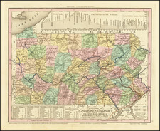 Pennsylvania Map By Henry Schenk Tanner