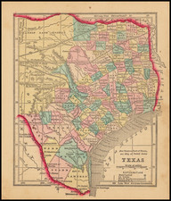 Texas Map By Sidney Morse  &  Samuel Gaston