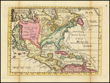 North America and California as an Island Map By Daniel de La Feuille