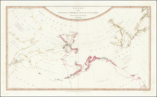Alaska, Pacific, Russia in Asia, Canada and Western Canada Map By William Faden / Henry Roberts