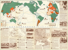 World and World War II Map By United States GPO