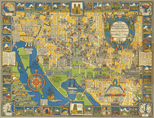 Washington, D.C. and Pictorial Maps Map By Edwin Olsen  &  Blake Clark