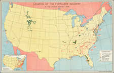 United States and Pictorial Maps Map By National Fertilizer Association