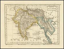 India, Malaysia and Thailand, Cambodia, Vietnam Map By Fyodor Poznyakov  &  Konstantin Arsenyev  &  S.K. Frolov