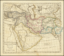 Turkey, Central Asia & Caucasus, Middle East, Arabian Peninsula, Persia and Turkey & Asia Minor Map By Fyodor Poznyakov  &  Konstantin Arsenyev  &  S.K. Frolov