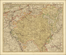 Luxembourg Map By Reiner & Joshua Ottens