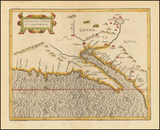 Southwest, Baja California and California Map By Cornelis van Wytfliet