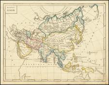 Asia Map By Fyodor Poznyakov  &  Konstantin Arsenyev  &  S.K. Frolov