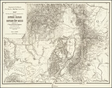 Colorado, New Mexico and Colorado Map By U.S. Government