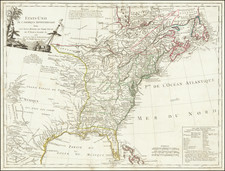 United States and American Revolution Map By Charles Francois Delamarche