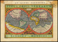 World Map By Petrus Bertius