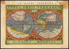 World Map By Petrus Bertius