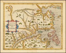 Canada Map By Cornelis van Wytfliet