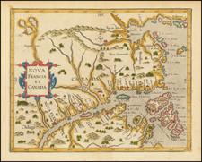 Canada Map By Cornelis van Wytfliet