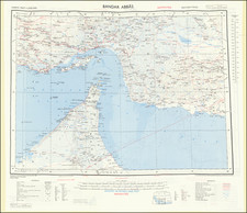 Middle East, Arabian Peninsula and Persia Map By War Office