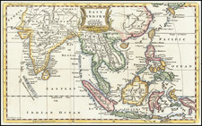 India and Southeast Asia Map By Thomas Jefferys