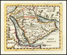 Middle East and Arabian Peninsula Map By Johann Hoffmann