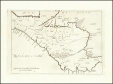 Mexico and Central America Map By Antonio de Herrera y Tordesillas