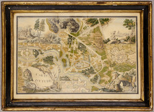 France and Curiosities Map By Anonymous