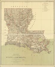 Louisiana Map By U.S. General Land Office