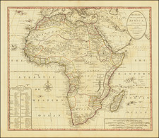 Africa Map By Carington Bowles II  &  Samuel Carver