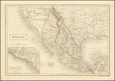 Texas, Southwest, Rocky Mountains and Mexico Map By Sidney Hall