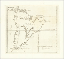 South America Map By Antonio de Herrera y Tordesillas