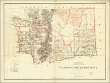 Washington Map By U.S. General Land Office / C. Roeser