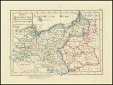 Germany and Poland Map By Fyodor Poznyakov  &  Konstantin Arsenyev  &  S.K. Frolov
