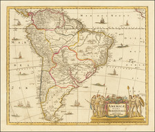South America Map By Peter Schenk  &  Gerard Valk