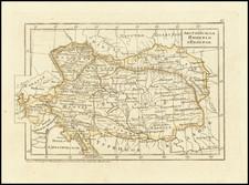Austria, Hungary and Croatia & Slovenia Map By Fyodor Poznyakov  &  Konstantin Arsenyev  &  S.K. Frolov