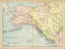 Alaska, Canada and Western Canada Map By J. Martin Miller
