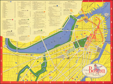 Pictorial Maps and Boston Map By Zorigian Studios