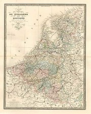 Europe and Netherlands Map By J. Andriveau-Goujon