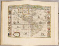 North America, Central America, South America, America and Atlases Map By Johannes Blaeu