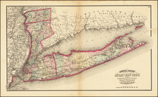 New York City and New York State Map By Asher & Adams