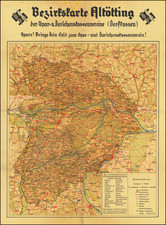 Germany and World War II Map By Reichsnährstandes Altötting