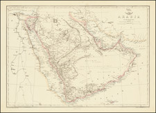 Middle East and Arabian Peninsula Map By Edward Weller