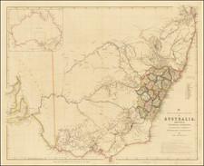 The South Eastern Portion of Australia, compiled from the Colonial Surveys, And From Details Furnished By Exploratory Expeditions. by John Arrowsmith By John Arrowsmith