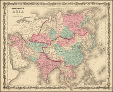 Asia Map By Benjamin P Ward  &  Alvin Jewett Johnson