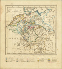 Netherlands and Germany Map By Fyodor Poznyakov  &  Konstantin Arsenyev  &  S.K. Frolov