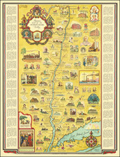 New York State and Pictorial Maps Map By George Annand