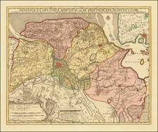 Netherlands Map By Peter Schenk / Nicolaes Visscher II